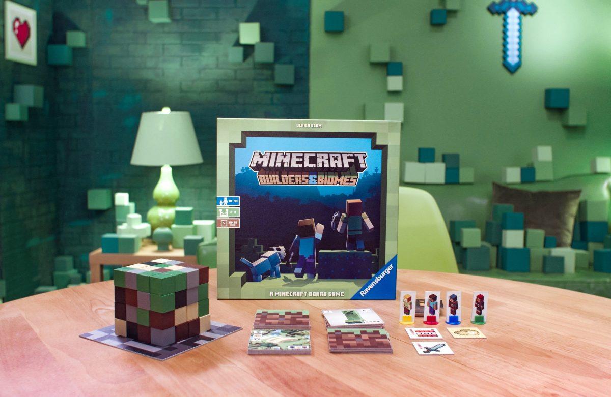 "Un autre aperçu du jeu de société Minecraft ""Builders & Biomes"""