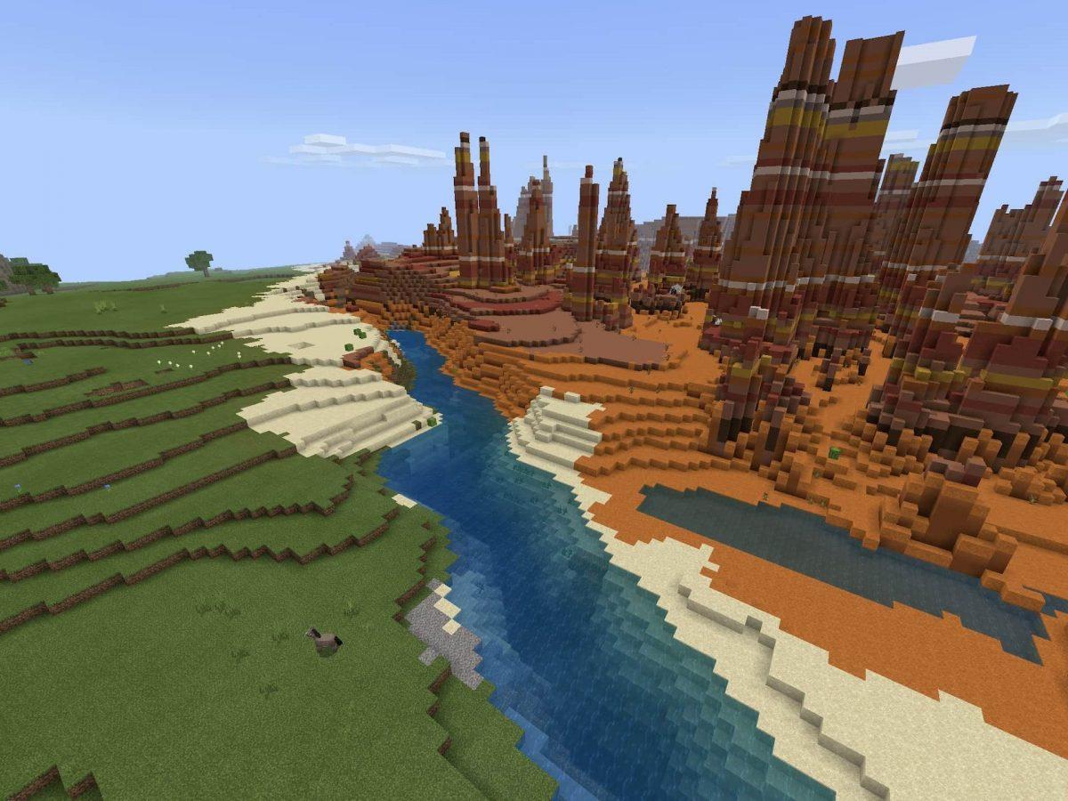 Seed et Graines pour Minecraft Bedrock 1.12 : Badlands ravin