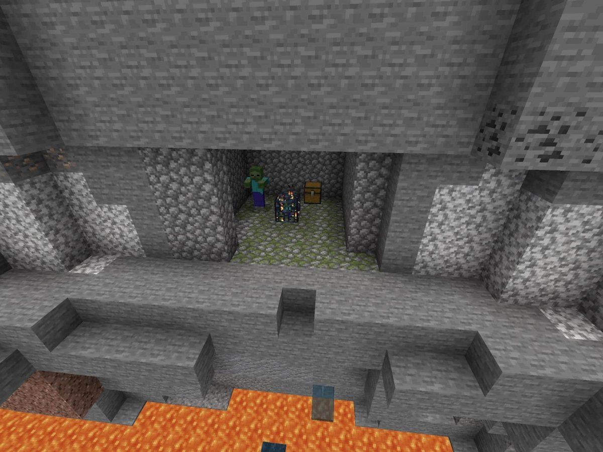 Seed et Graines pour Minecraft Bedrock 1.12 : Badlands ravin donjon