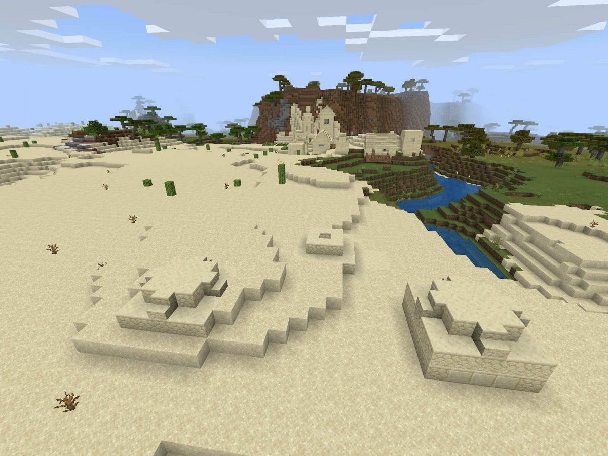 Seed et Graines pour Minecraft Bedrock 1.12 : Gros butin désert