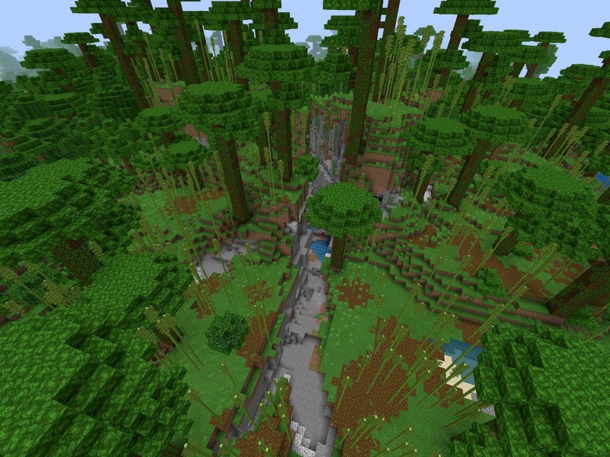 Seed et Graines pour Minecraft Bedrock 1.12 : Forêt de bambous