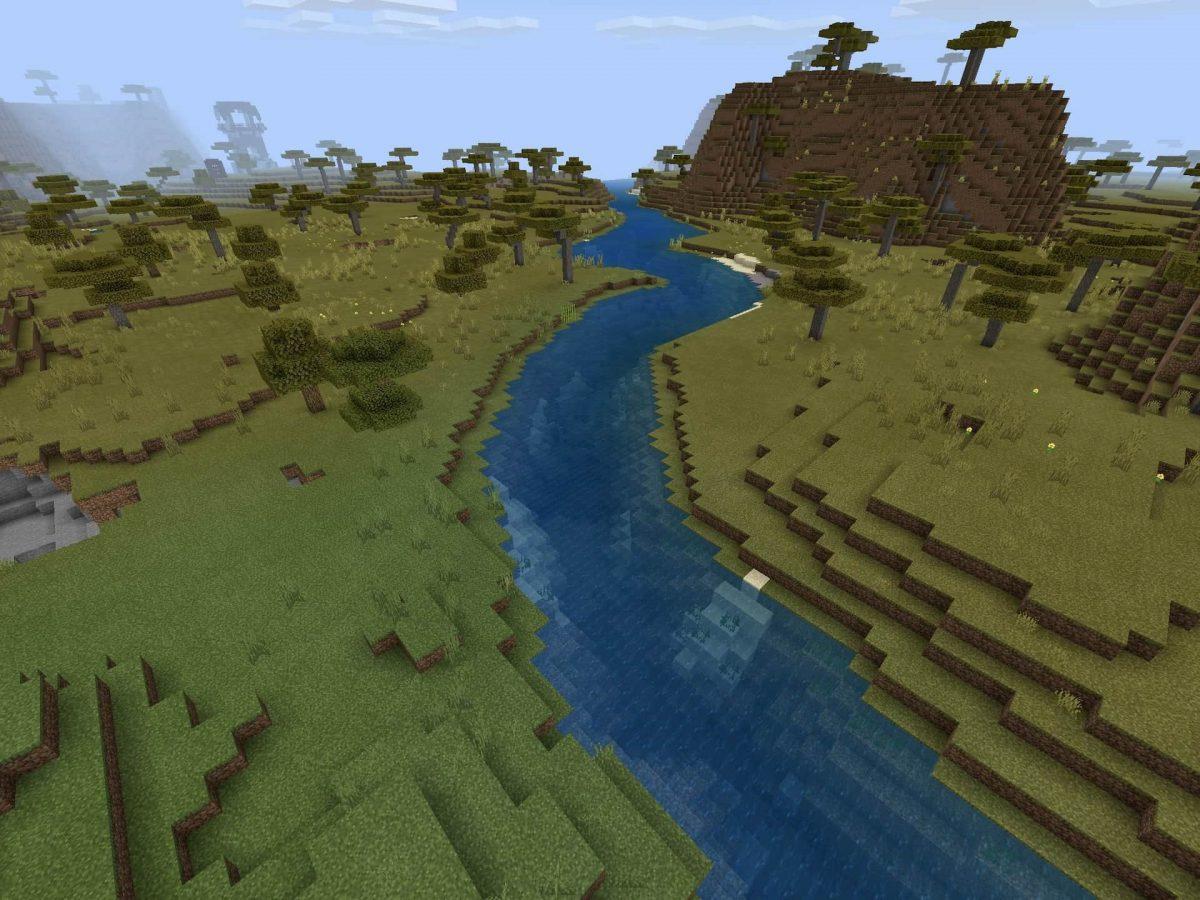 Seed et Graines pour Minecraft Bedrock 1.12 : Pillards désert village ravin rivière
