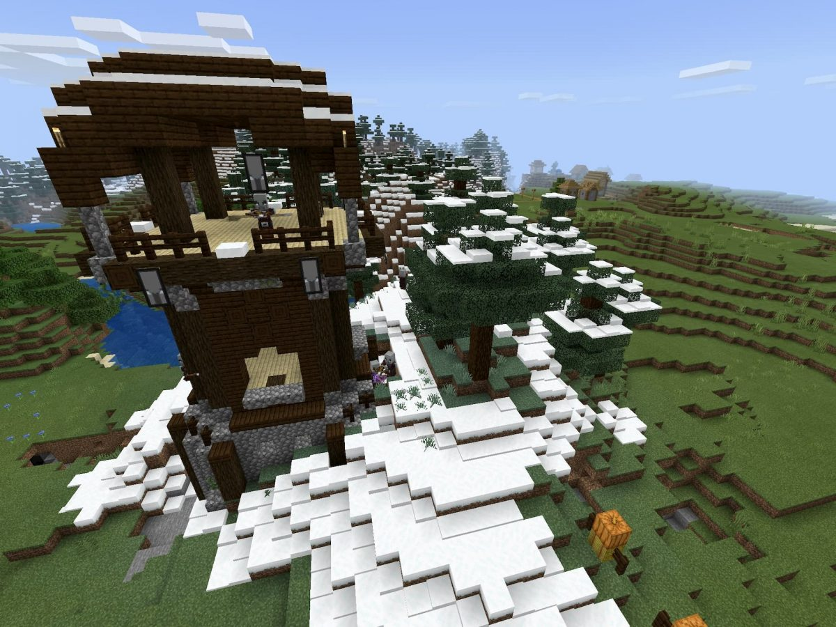 Seed et Graines pour Minecraft Bedrock 1.12 : Pillards et neige