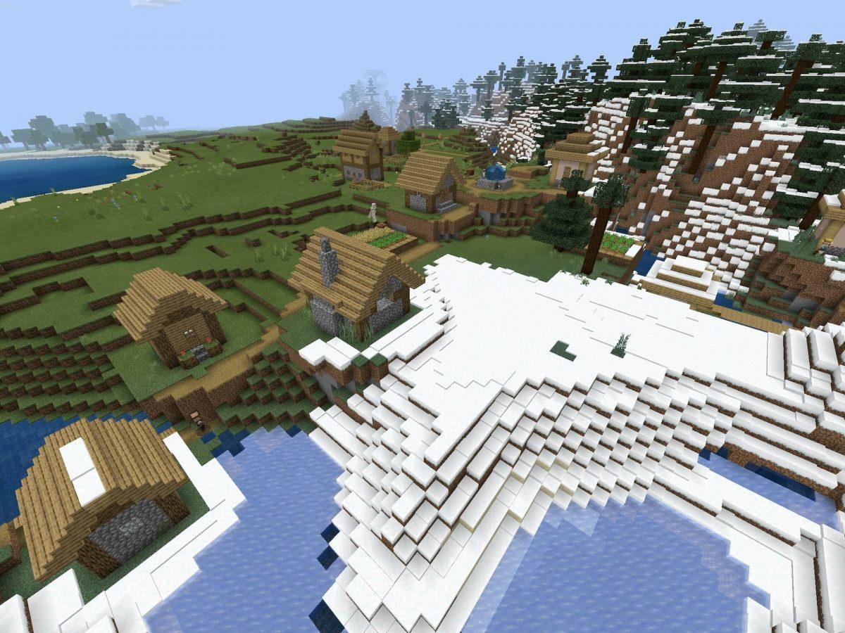 Seed et Graines pour Minecraft Bedrock 1.12 : Pillards et neige village
