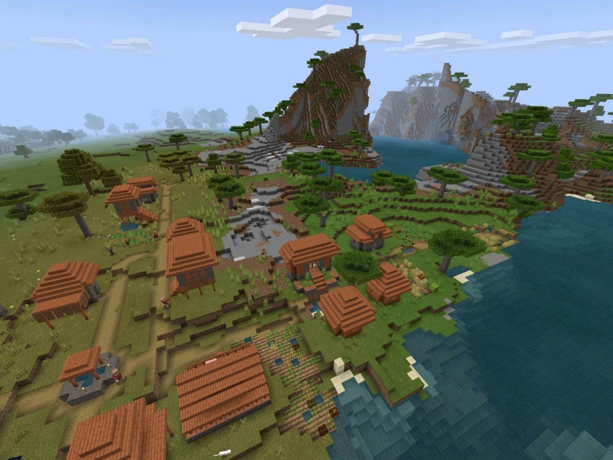 Seed et Graines pour Minecraft Bedrock 1.12 : Plaine savane
