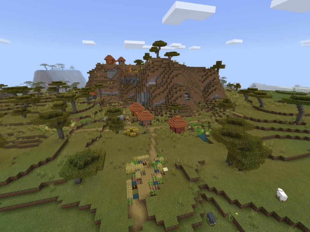 Seed et Graines pour Minecraft Bedrock 1.12 : Plaine savane colline