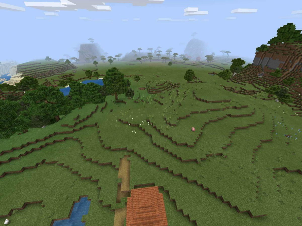 Seed et Graines pour Minecraft Bedrock 1.12 : Plaine savane mouton cochon