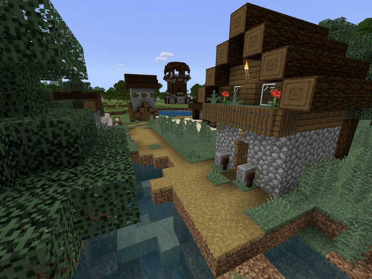 Seed et Graines pour Minecraft Bedrock 1.12 : Village proche de pillards