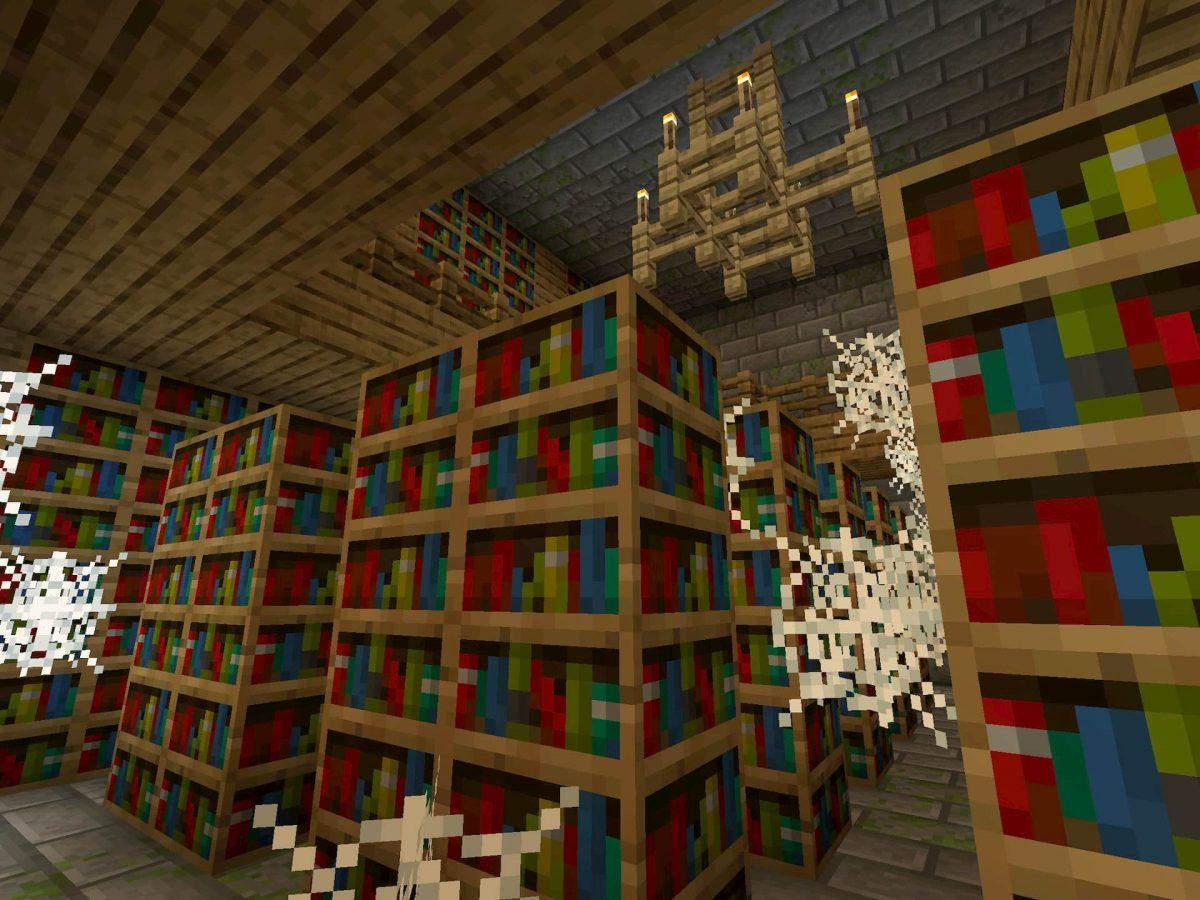 Seed et Graines pour Minecraft Bedrock 1.12 : Village au dessus fort bibliothèque