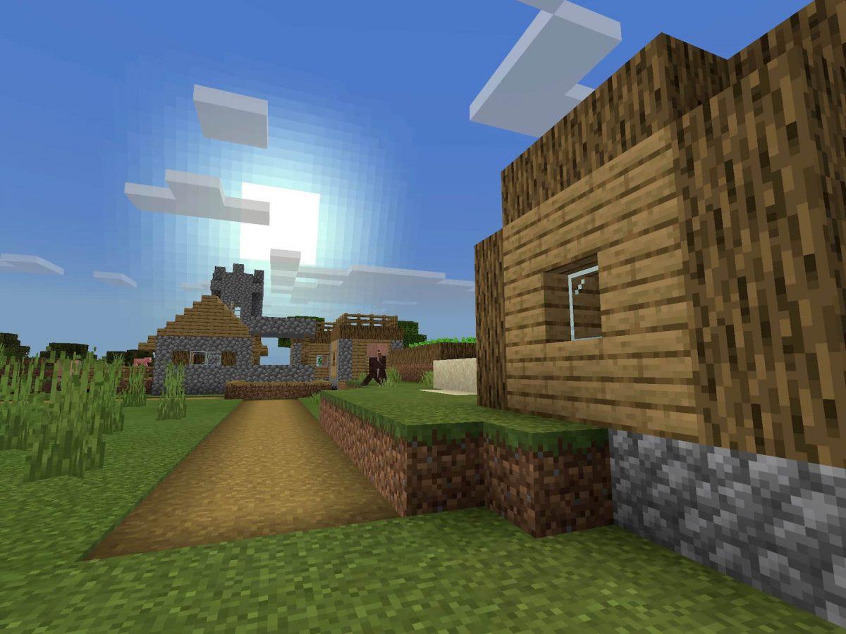Seed et Graines pour Minecraft Bedrock 1.12 : Village au dessus fort spawn