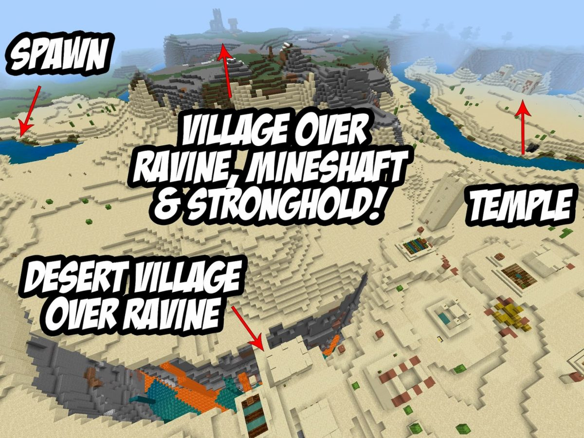 Seed et Graines pour Minecraft Bedrock 1.12 : Graine démentielle carte