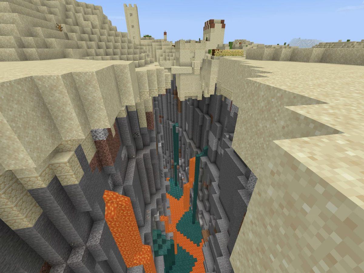 Seed et Graines pour Minecraft Bedrock 1.12 : Graine démentielle ravin et désert