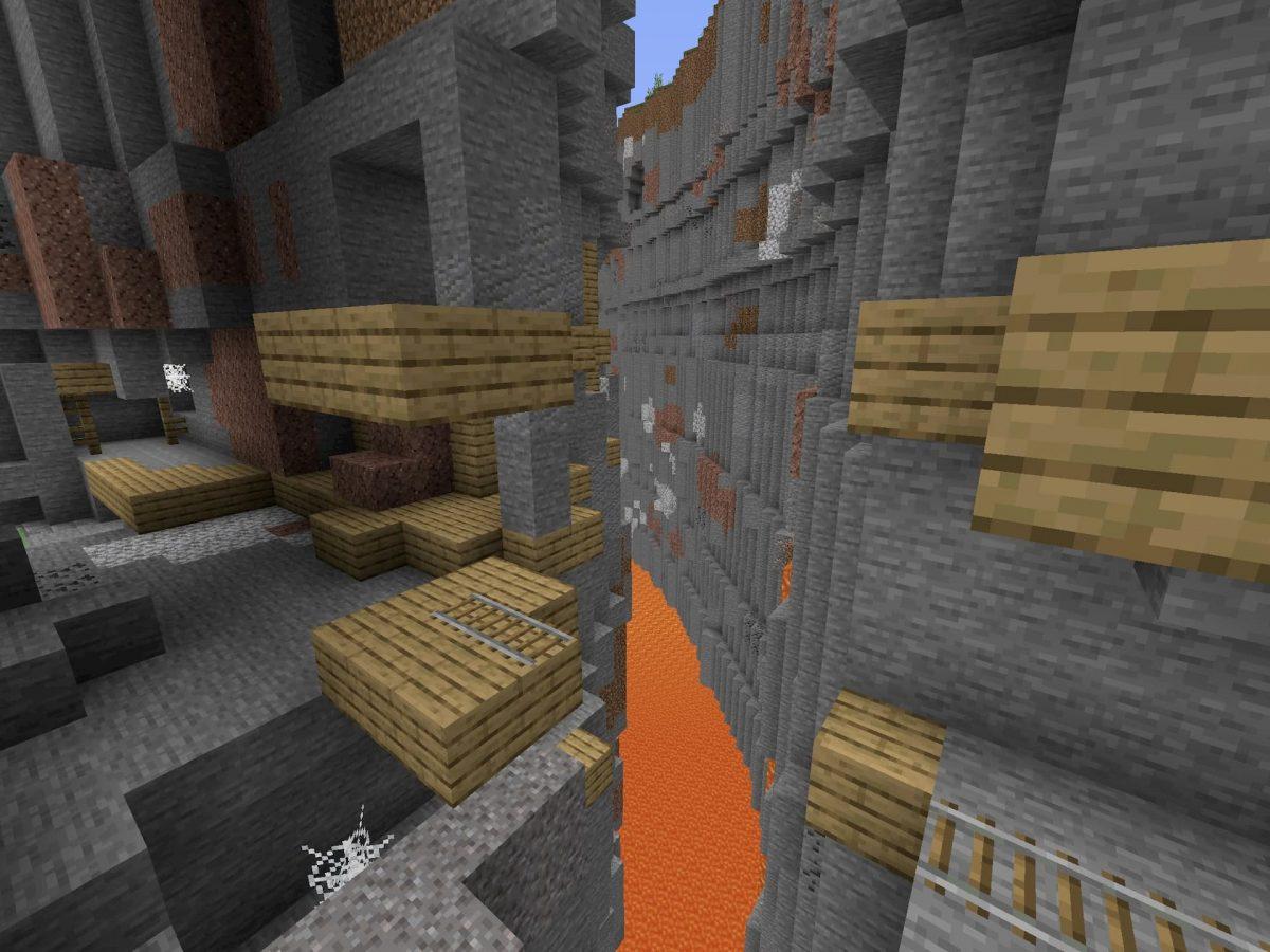 Seed et Graines pour Minecraft Bedrock 1.12 : Graine démentielle ravin fort