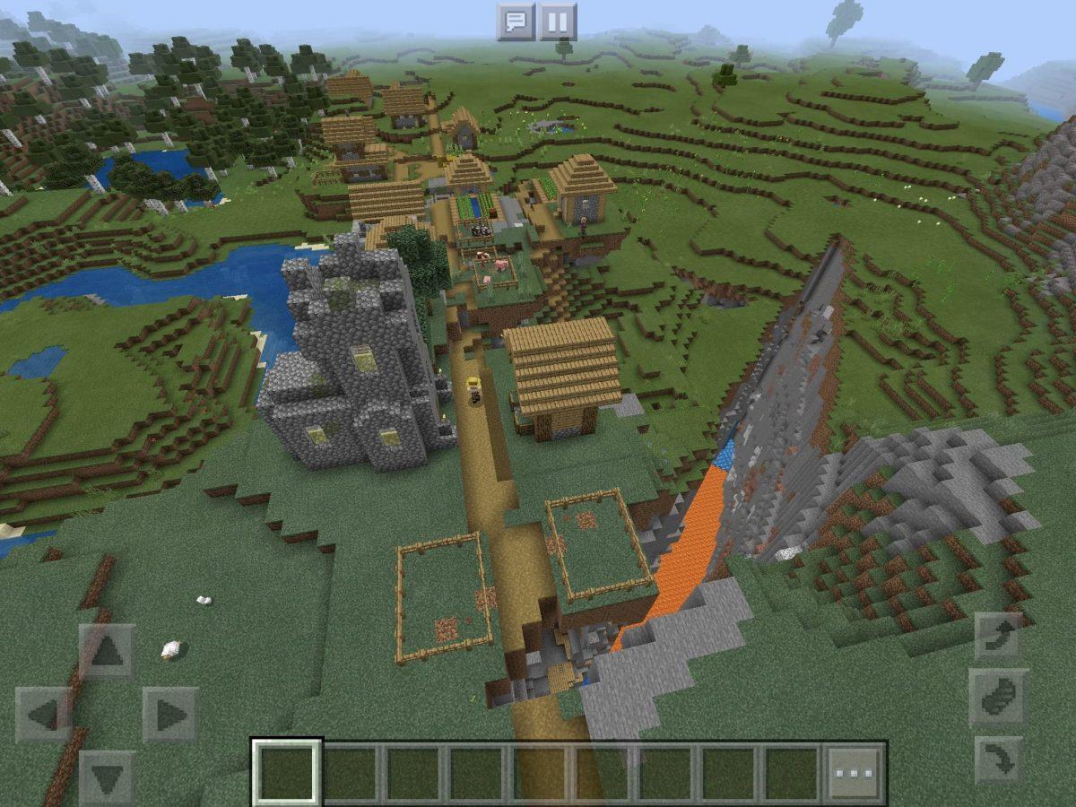 Seed et Graines pour Minecraft Bedrock 1.12 : Graine démentielle village