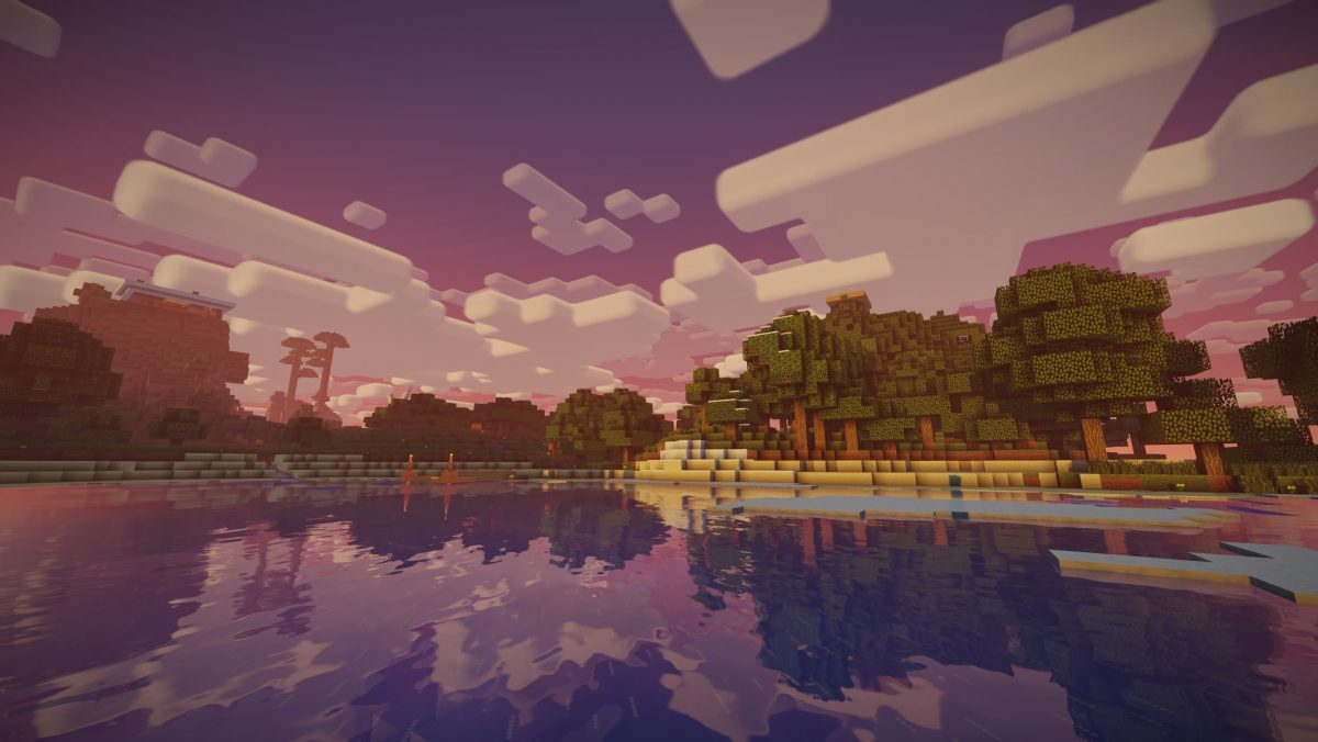 Nostalgia Shader Minecraft : Reflet soleil sur de l'eau