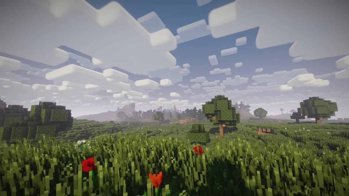 Nostalgia Shader Minecraft : Plaine et fleurs