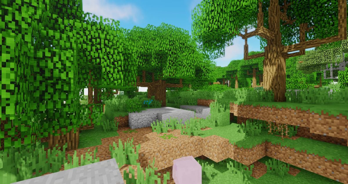 Oceano Shaders arbre foret