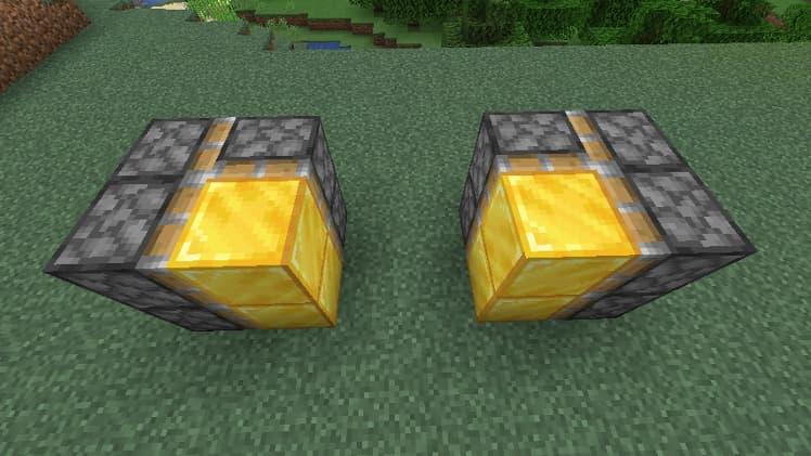 Porte cachée avec des pistons dans Minecraft étape 2