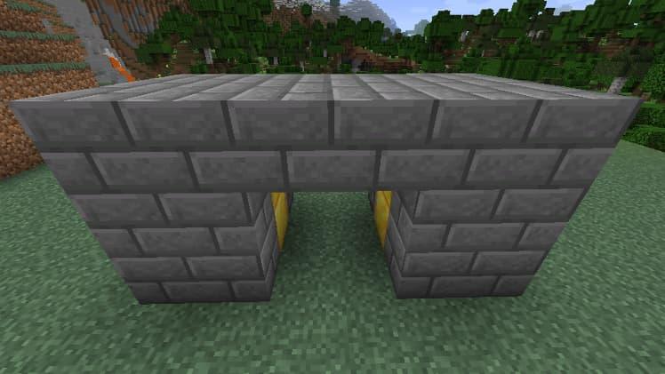 Porte cachée avec des pistons dans Minecraft étape 3