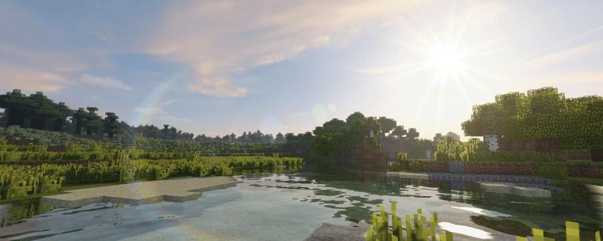 projectLUMA Shader : Reflet des arbres sur l'eau