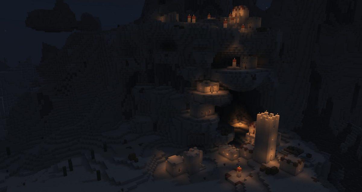 projectLUMA Shader : Une village dans le désert de nuit