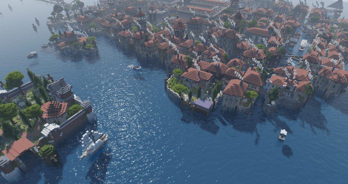 projectLUMA Shader : Une ville en bord de mer