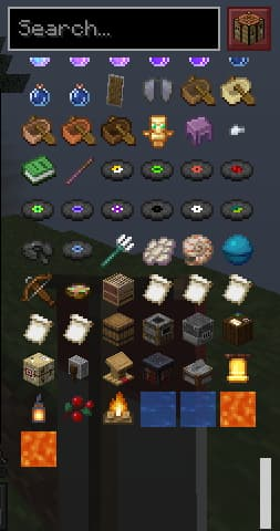 Roughly Enough Items barre scroll