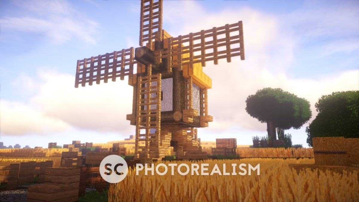 Pack SC Photorealism : Un moulin dans un champs