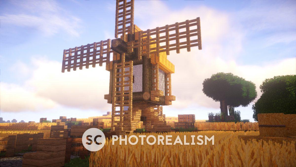 Pack SC Photorealism : Un moulin dans un champs