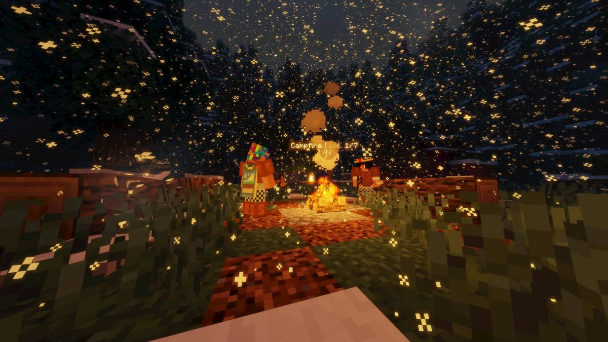 Sleepless Night Map Minecraft feu de camp