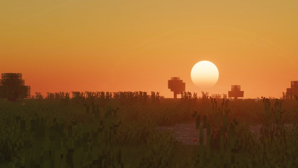 Voyager Shader Minecraft : Savane