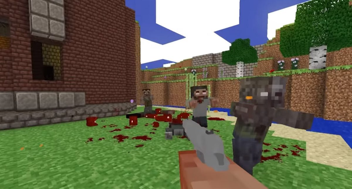 Brutal Minecraft mod doom zombies