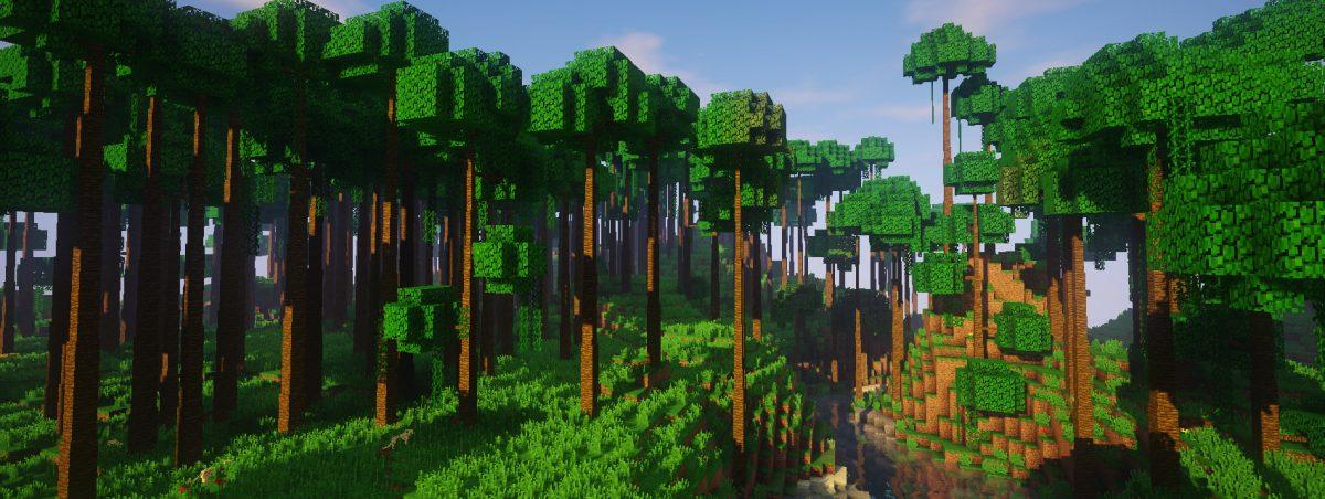 Dynamic Trees : la canopée des grands arbres de la jungle produit un sol forestier faiblement éclairé