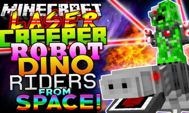 [Mod] Laser Creeper Robot Dino Riders From Space – 1.7.10 → 1.12.2