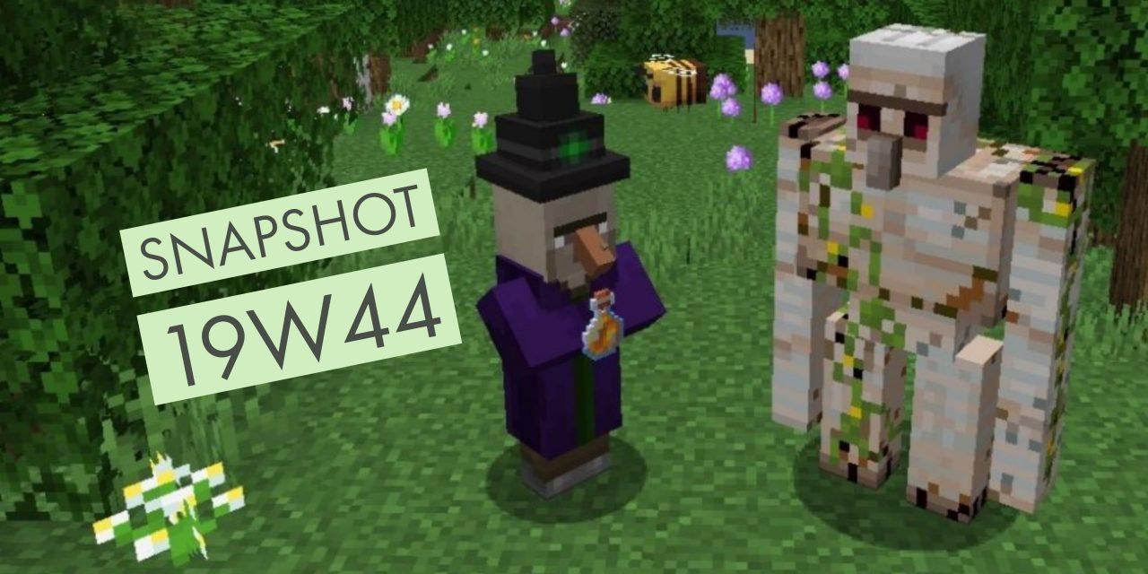 Minecraft 1.15 : Snapshot 19w44a : amélioration des performances et correction de bugs