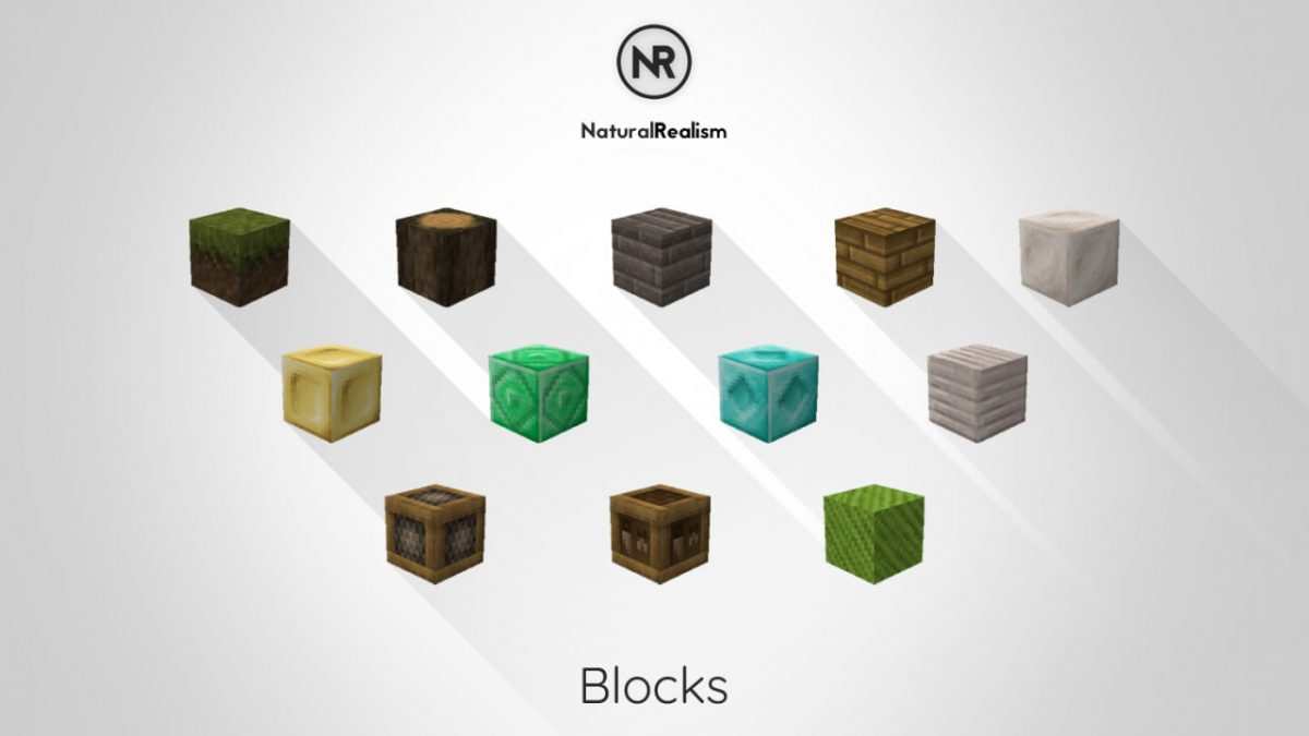 [Pack de Textures] NaturalRealism : Les blocs refaits