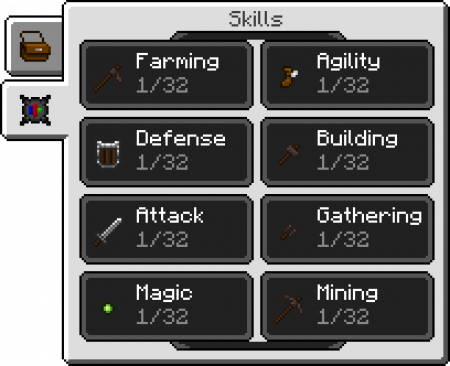 RLCraft : Les skills de Skillable