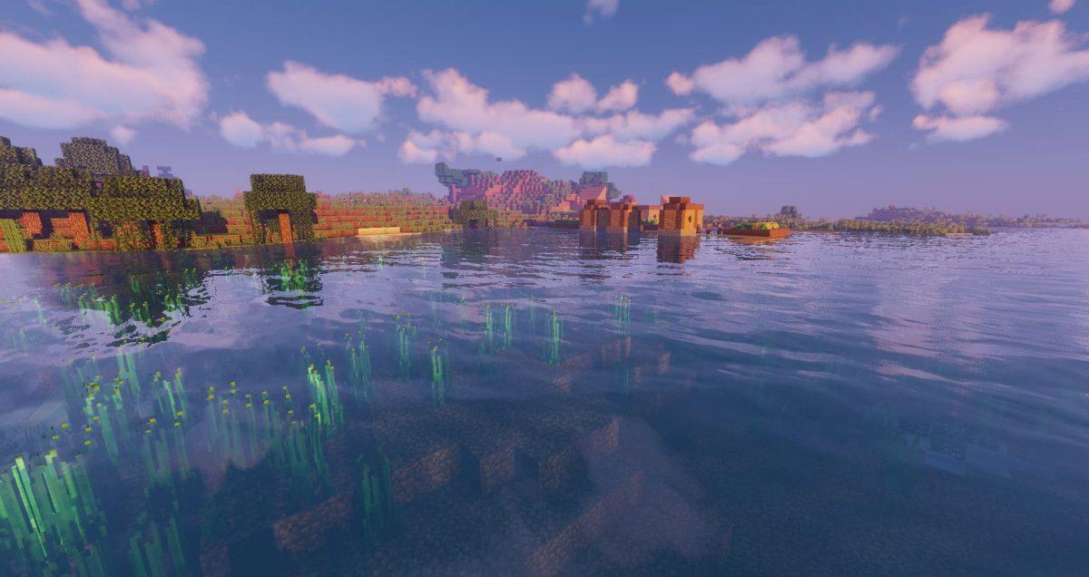 sildur's shaders minecraft : Vision eau dans la rivière