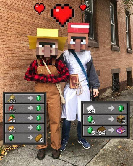 Un magnifique couple de villageois.