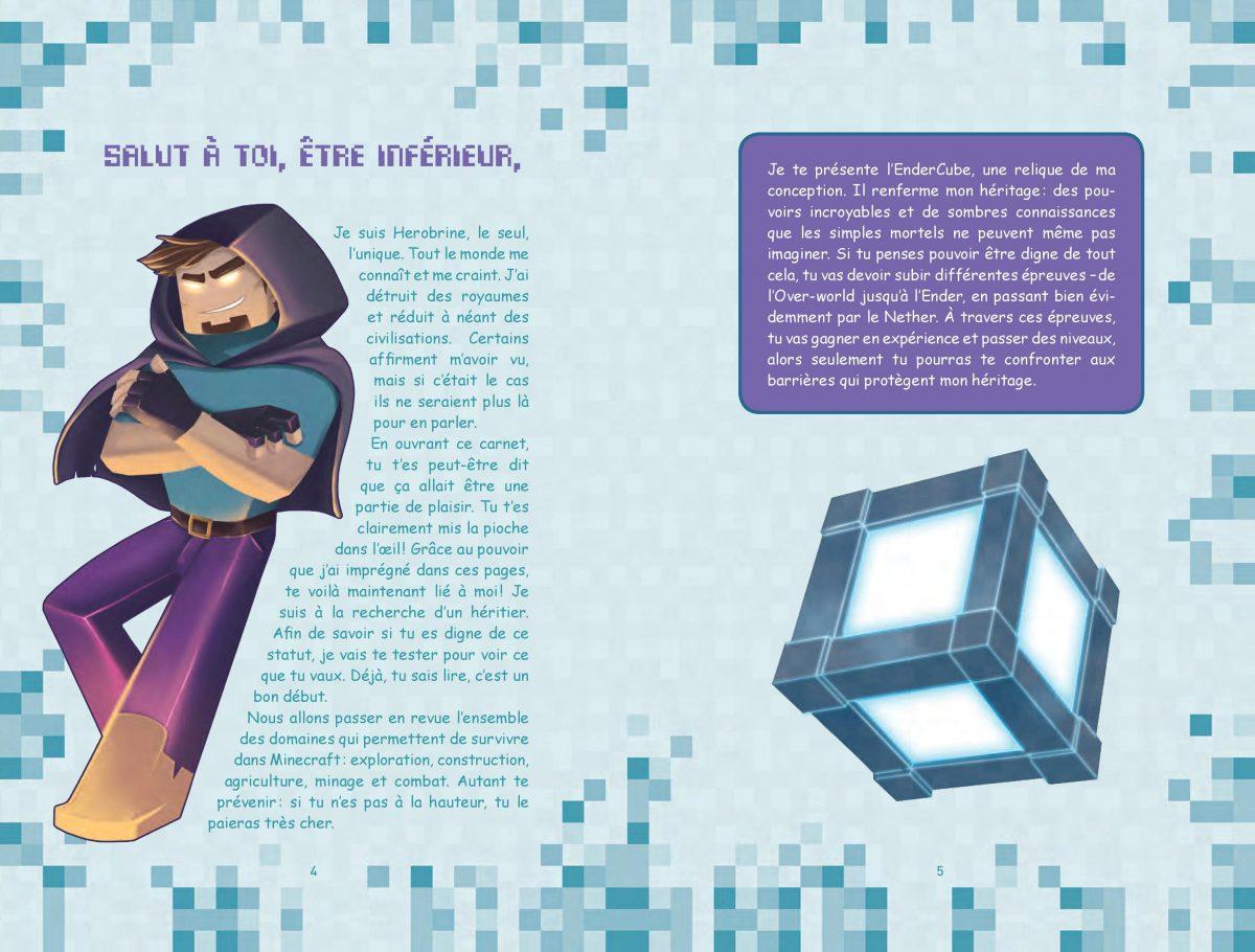L'héritage de Herobrine - Livre Enigme / Aventure Minecraft 1