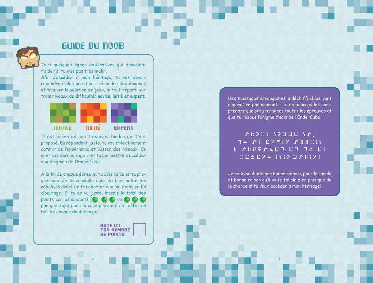 L'héritage de Herobrine - Livre Enigme / Aventure Minecraft 2