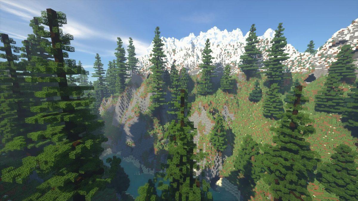 Villager's Valley : Une chemin creusé par la rivière dans la montagne