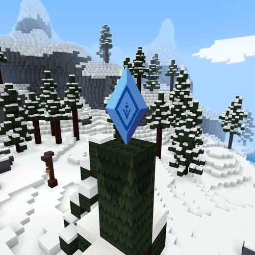 Map Minecraft La Rein des Neiges Crystal