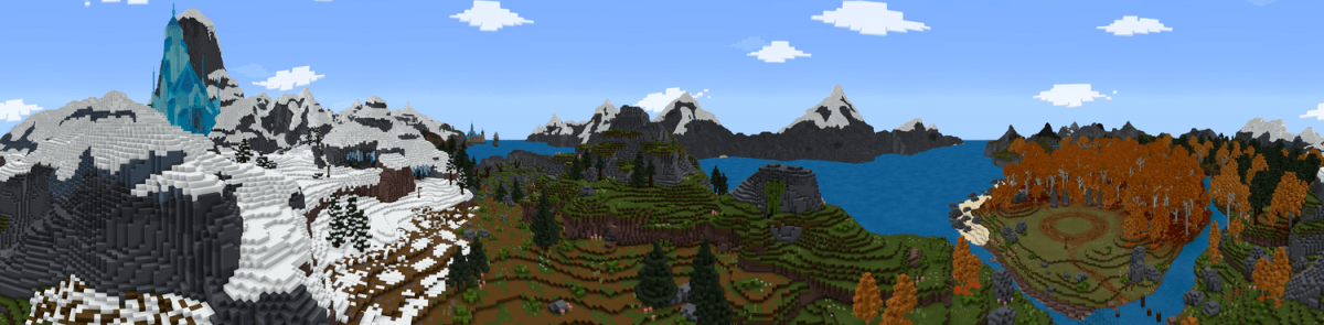 Map Minecraft La Rein des Neiges Panoramique