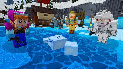 Map Minecraft La Rein des Neiges Mini Jeux