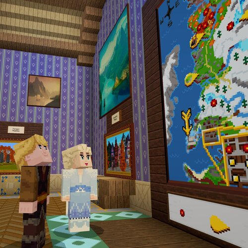 Map Minecraft La Rein des Neiges voyage rapide