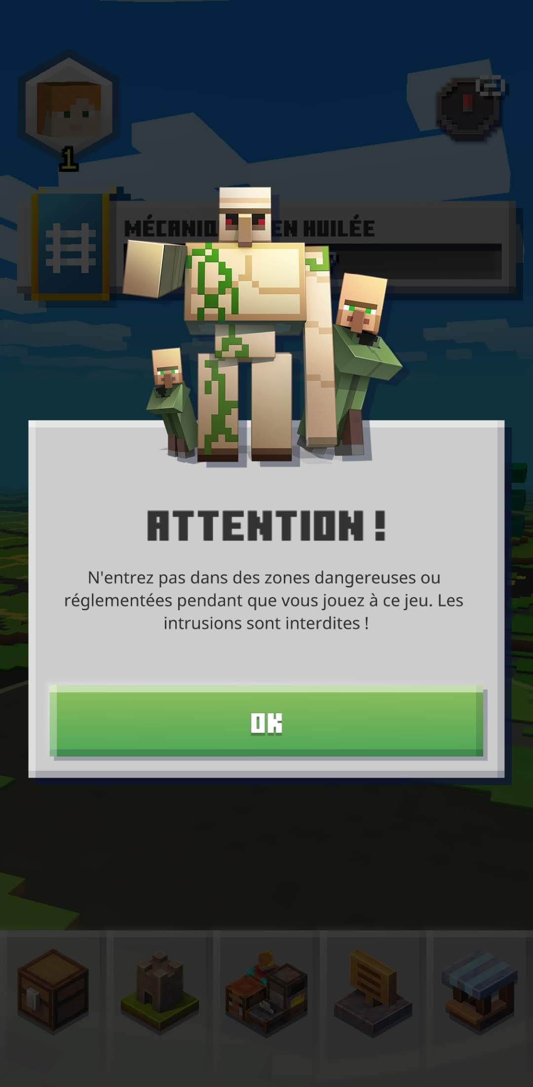 Minecraft Earth : sécurité