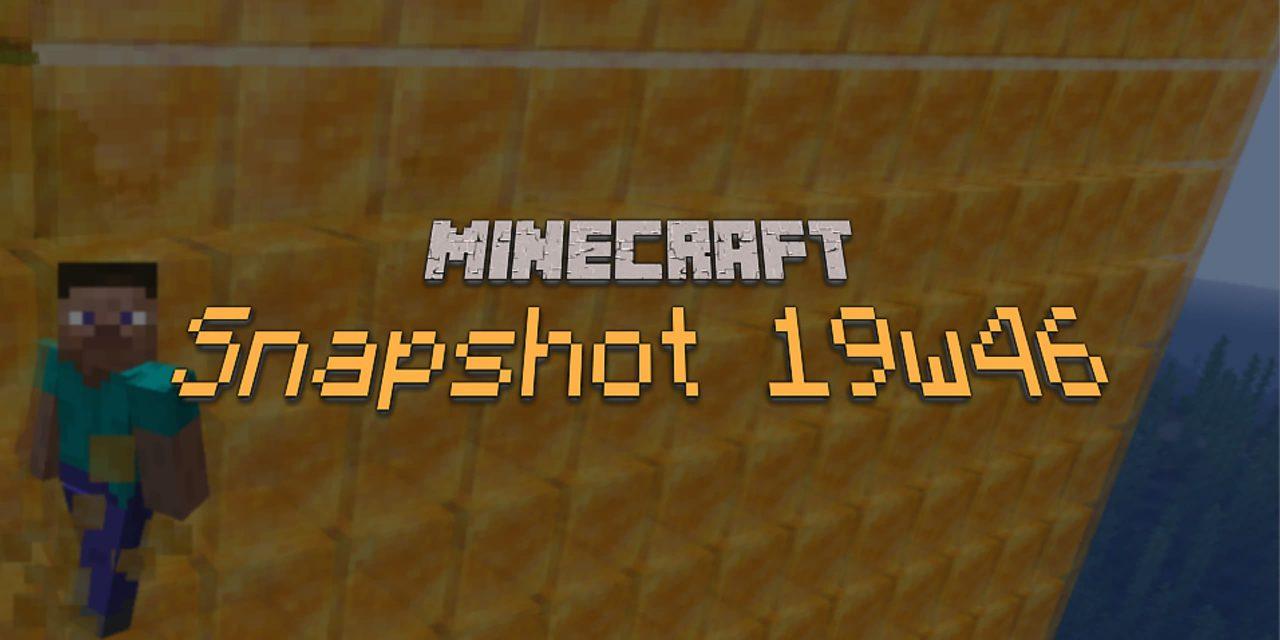 Minecraft 1.15 : Snapshot 19w46b : créatif, crash et bugs