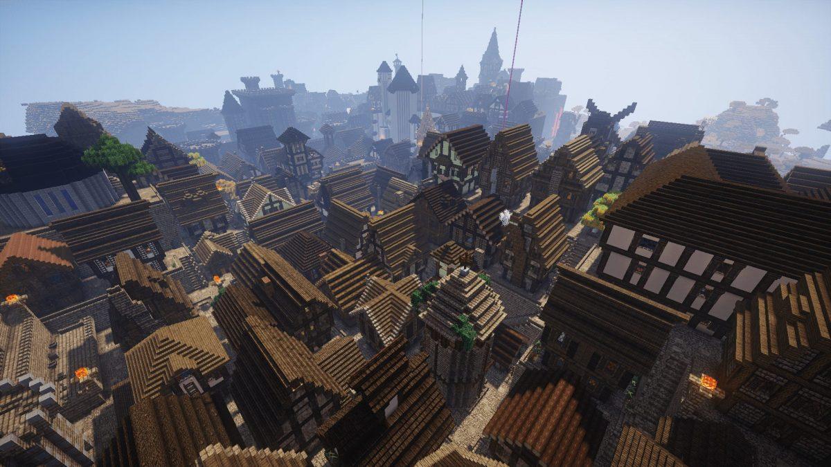 The Realm of Midgard : vue aérienne de la ville