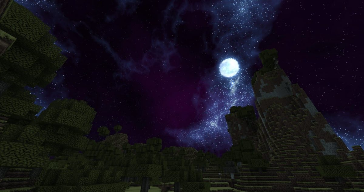 Dokucraft High : La lune pendant la nuit